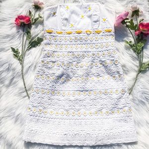 Lilly Pulitzer Daisy Embroidered Dress Bowen Lace